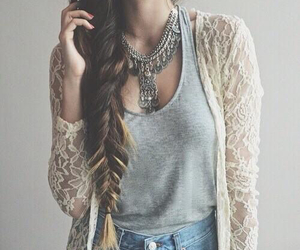 clothes, hair, and plait image