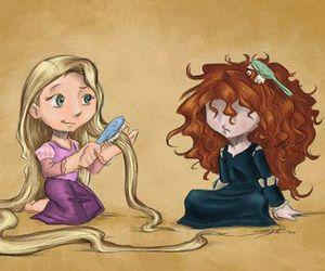 disney, hair, and rapunzel image