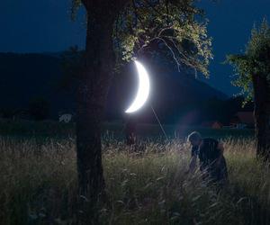 crescent moon, Leonid Tishkov, and moon image