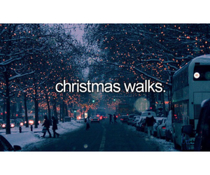 christmas, snow, and walks image