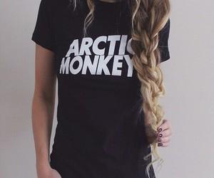 girl, arctic monkeys, and hair image