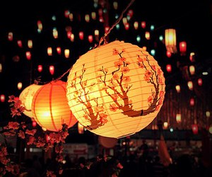 light, japan, and night image