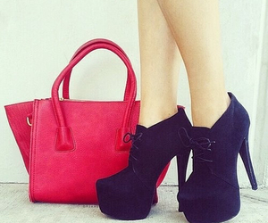 shoes, bag, and black image
