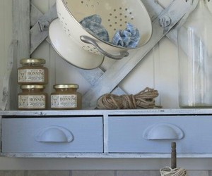 blue and white, country living, and interiors image