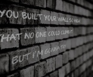 wall, quote, and song image