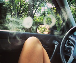 smoke, car, and summer image