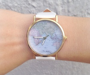 watch, world, and map image
