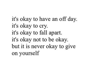 cry, fall apart, and never give up image