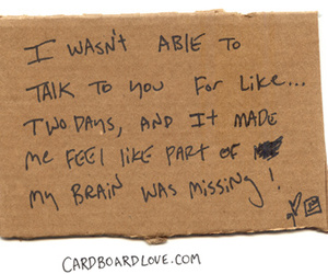cardboard, lonely, and miss you image