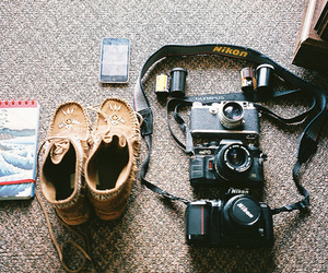 camera, shoes, and photography image