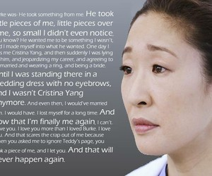 cristina yang, sad, and wise image