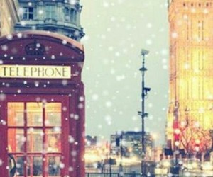london, snow, and christmas image