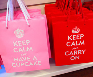 keep calm, pink, and cupcake image
