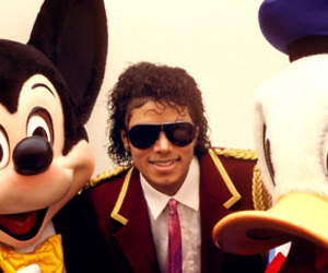 disney, michael jackson, and mickey mouse image