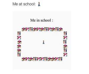 alone, funny, and school image