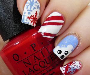 christmas, nails, and snow image