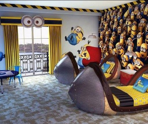 minions, room, and bedroom image