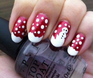 awesome, nail art, and red image