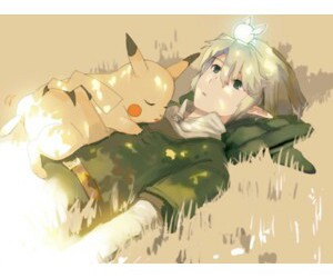 link, pikachu, and pokemon image
