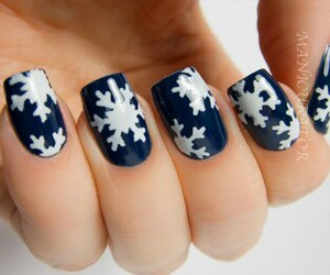 winter, nails, and snow image