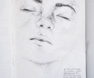 drawing, art, and face image