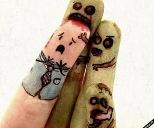 fingers, zombies, and eat brain image
