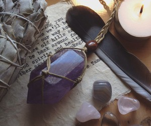 amethyst, crystals, and necklace image