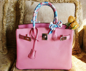 bag, pink, and hermes image