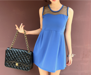bag, dress, and fashion image