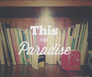books, me, and paradise image
