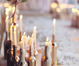 candle, light, and bottle image