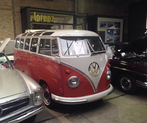 bus, car, and hippie image