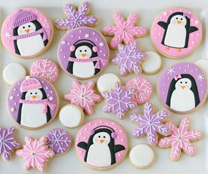 Cookies, christmas, and penguin image