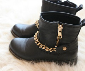boots, gold, and shoes image