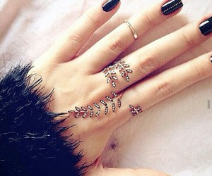 ring, black, and nails image