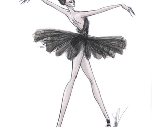 ballet, drawing, and girl image
