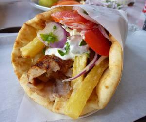 gyros, food, and pita image
