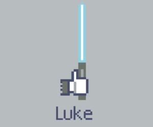 LUke, facebook, and like image
