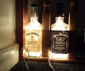 jack daniels, light, and alcohol image
