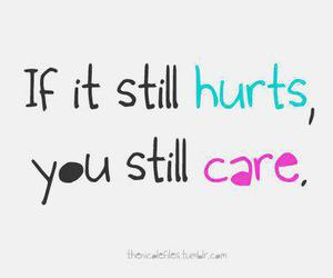 hurt, care, and text image