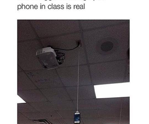 funny, phone, and school image