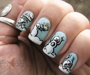 snowman, nail art, and nails image