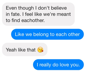 boyfriend, love, and conversation image