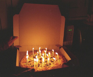 birthday, candles, and food image