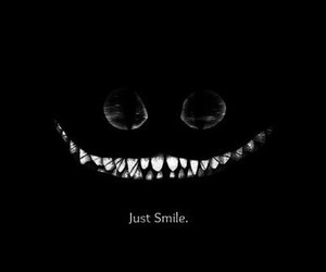 alice in wonderland, smile, and black image