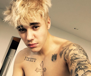blonde, justin, and Tattoos image