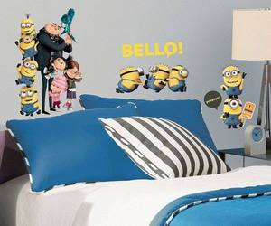 bedroom, kids, and minion image