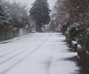 christmas, pale, and snow image