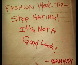 BANKSY and fashion week image