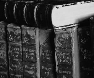 books and edgar allan poe image